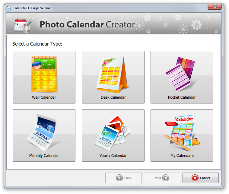 Photo Calendar Creator - Imagem 1 do software