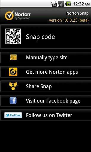 Norton Snap QR Code Reader - Imagem 1 do software