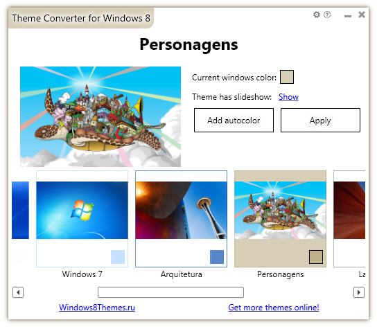 Theme Converter for Windows 8