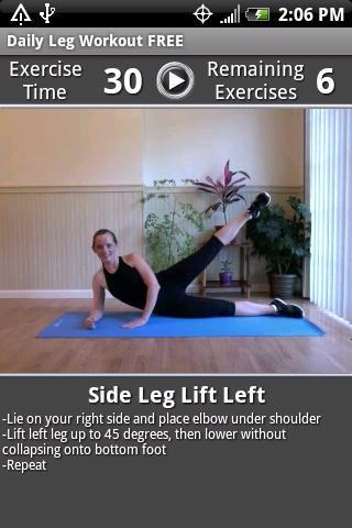 Daily Leg Workout FREE - Imagem 1 do software
