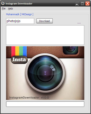 Instagram Downloader - Imagem 1 do software