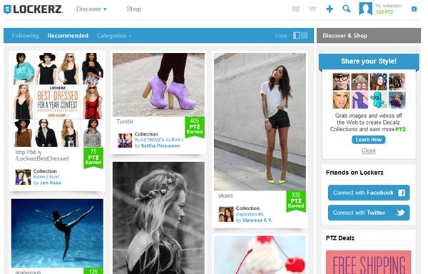 Visual da rede social
