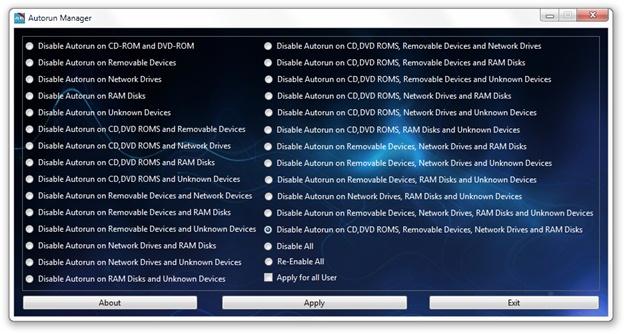 Autorun Manager - Imagem 1 do software