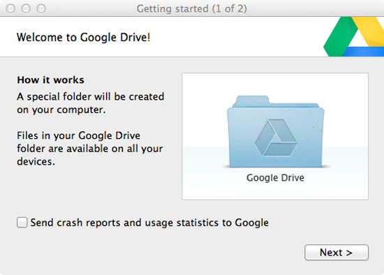 how to syn google drive with mac desktop