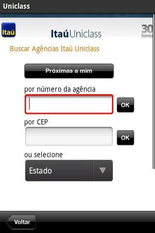 Itaú Uniclass para Tablets - Imagem 1 do software