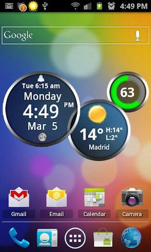 Rings Digital Weather Clock - Imagem 1 do software