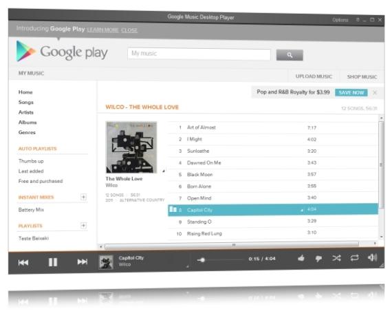 Google Music Desktop Player - Imagem 1 do software