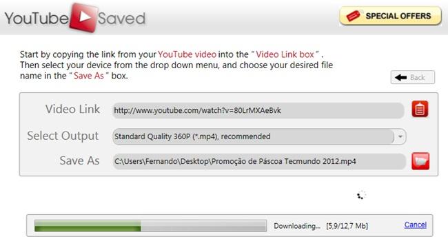 YouTube Saved - Imagem 3 do software