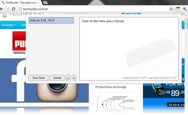 Mini Notepad - Imagem 1 do software