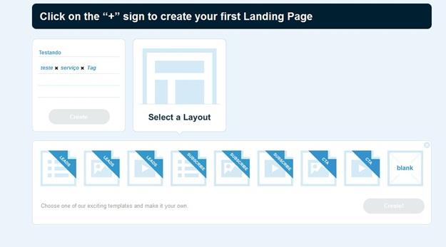 Escolhendo um layout