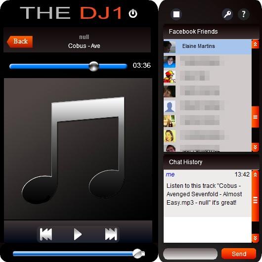 DJ1para Facebook - Imagem 1 do software