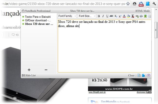 NoteBook Professional - Imagem 1 do software