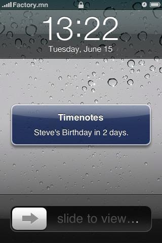 Timenotes - Imagem 2 do software