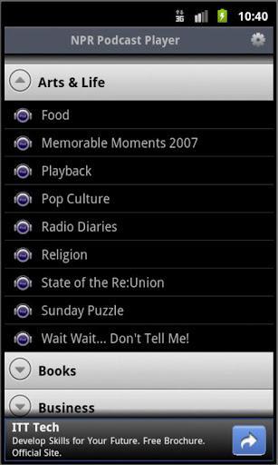 NPR Podcast Player - Imagem 1 do software