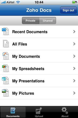 Zoho Docs - Imagem 1 do software