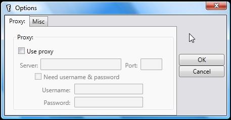 Suporte para servidor de proxy