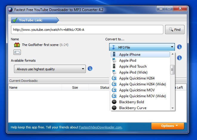Fastest Video Downloader - Imagem 2 do software