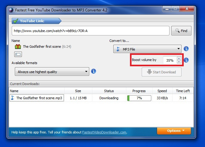 Fastest Video Downloader - Imagem 1 do software