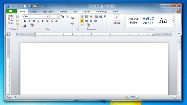 Visual muito parecido com o Office 2010