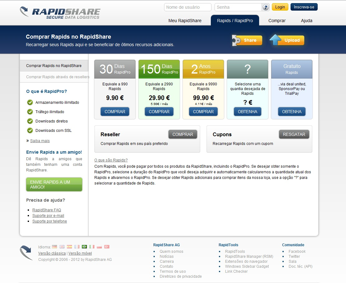 RapidShare - Imagem 1 do software