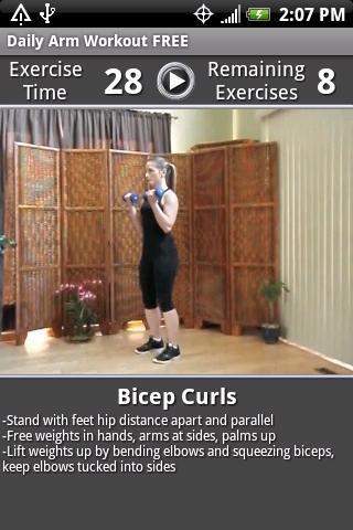 Daily Arm Workout FREE - Imagem 2 do software