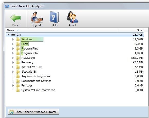 TweakNow HD-Analyzer.