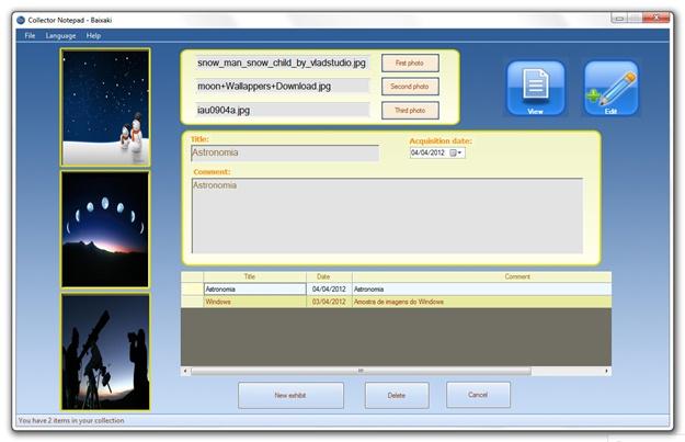 Collector Notepad - Imagem 2 do software