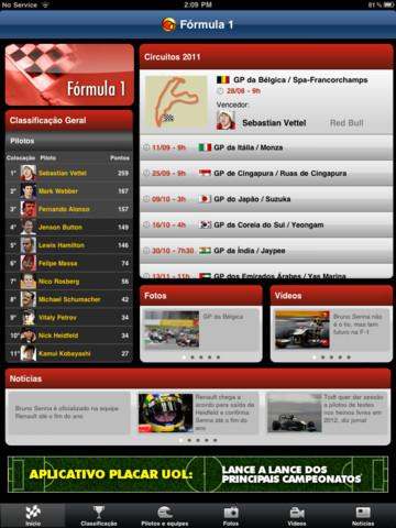 UOL Fórmula 1 - Imagem 1 do software