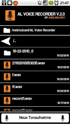 AL Voice Recorder - Imagem 1 do software