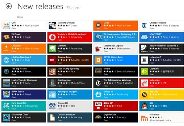 Novos aplicativos