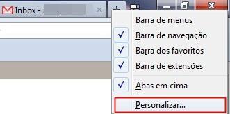 Personalizando a barra