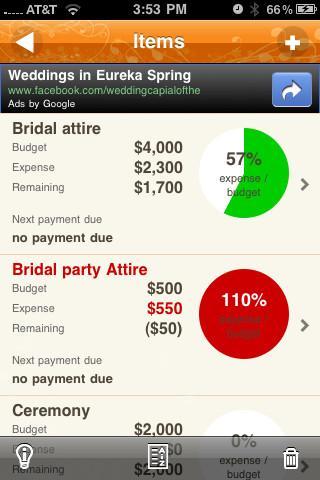 Wedding Budget - Imagem 1 do software