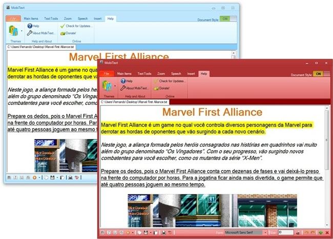 MobiText - Imagem 3 do software