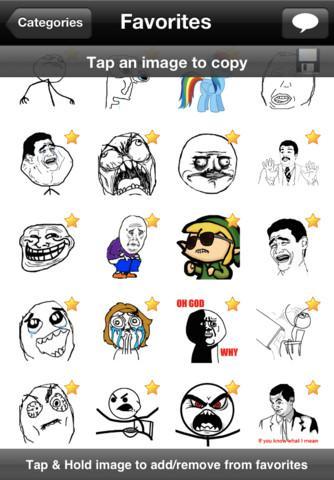 SMS Rage Faces - 1300+ Faces - Imagem 2 do software