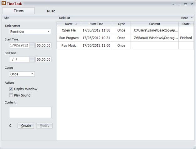 TimeTask - Imagem 1 do software