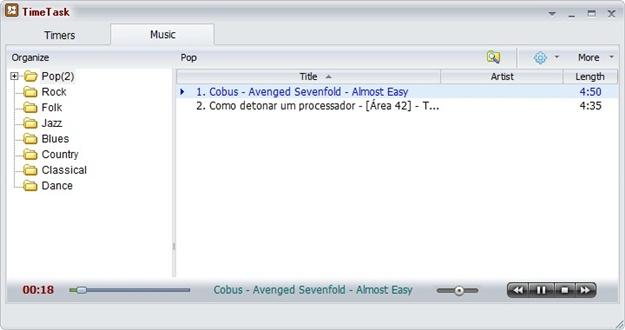 TimeTask - Imagem 2 do software
