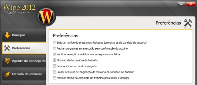Wipe - Imagem 2 do software