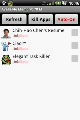 Elegant Task Killer - Imagem 2 do software