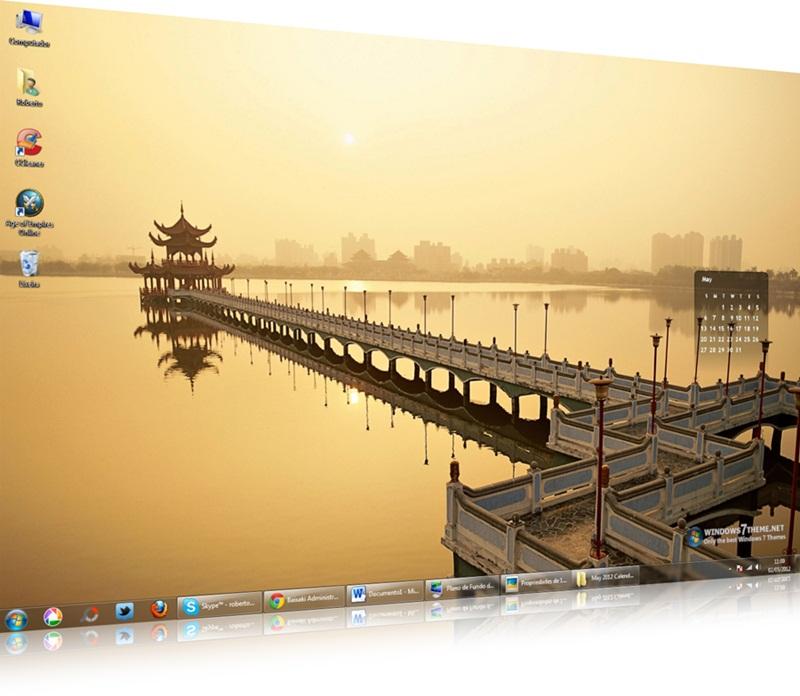 May 2012 Calendar Windows 7 Theme - Imagem 1 do software