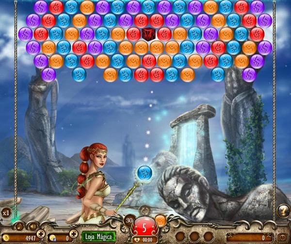 Tela do jogo Lost Bubbles