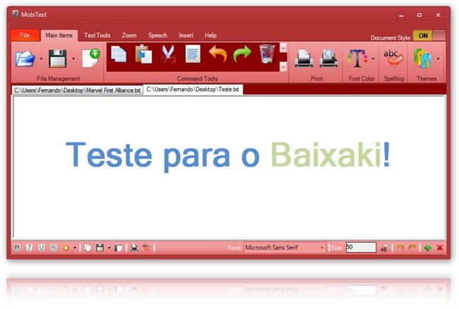 MobiText - Imagem 4 do software