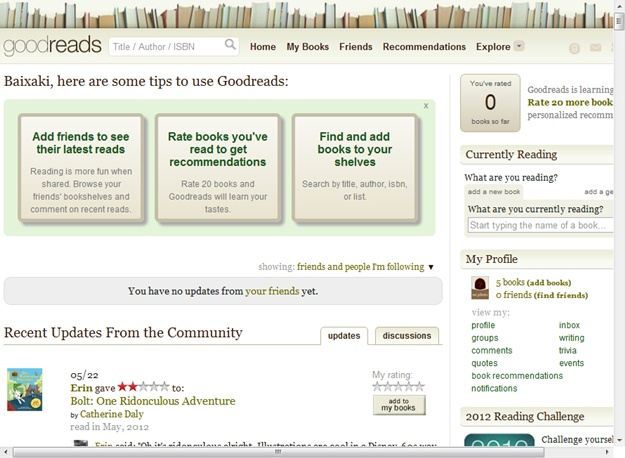 Goodreads - Imagem 1 do software