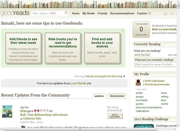 Goodreads Download para Web Grátis