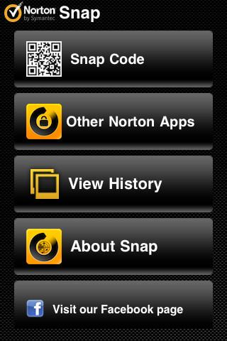 Norton Snap QR Code Reader - Imagem 2 do software