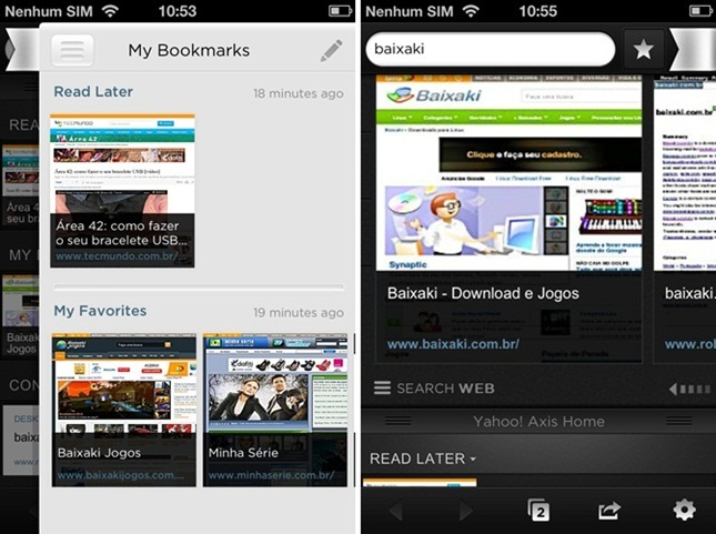 Yahoo! Axis - A Search Browser - Imagem 2 do software