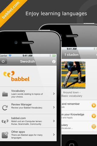 Aprenda sueco com Babbel - Imagem 1 do software