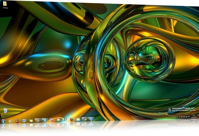 Abstract 3D Shapes Windows 7 Themes.