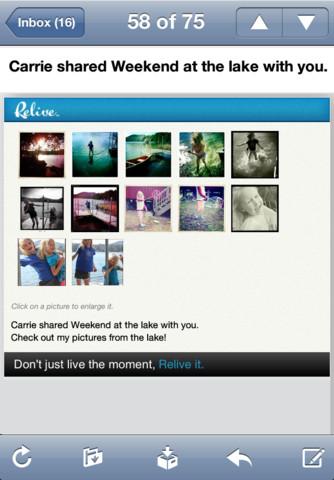 Relive - Imagem 2 do software
