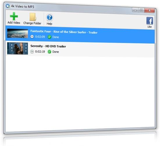 4k Video to MP3 - Imagem 1 do software