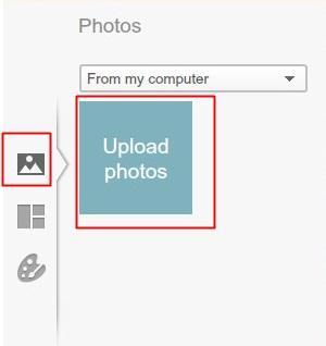 Começando o upload das imagens